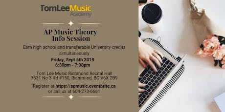 AP Music Theory Info Session tickets
