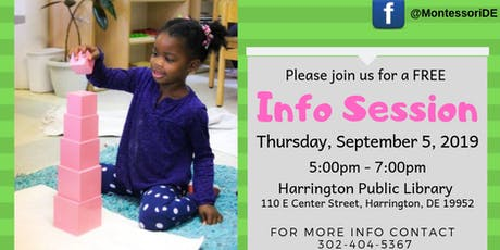 Sussex Montessori School Public Information Session - HARRINGTON LIBRARY tickets