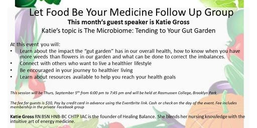 9-5-19 Let Food Be Your Medicine Follow Up Group