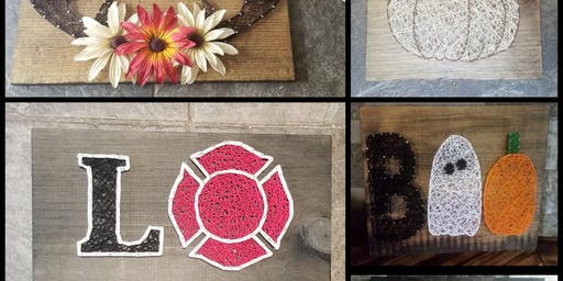 String Art class with Lisa Central Berks Fire Company Fundraiser