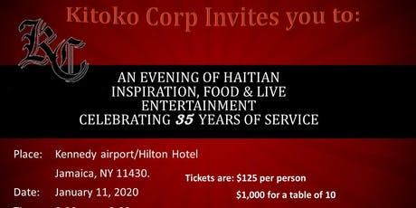 Kitoko Corp. 35 Years of Service Benefit Event!  tickets