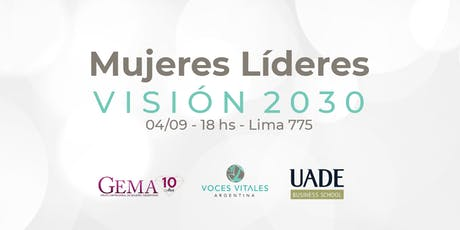 Mujeres Líderes Visión 2030 entradas
