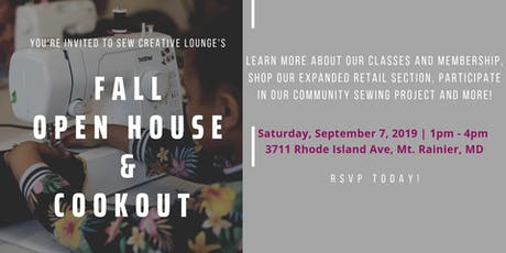 Sew Creative Lounge Open House tickets
