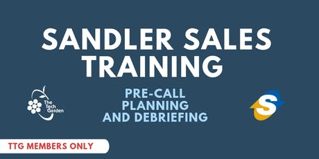 Sandler Sales Training: Pre-Call Planning and Debriefing  tickets