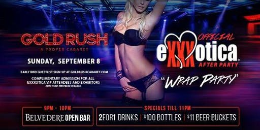 Offical eXXXotica Wrap Party at Gold Rush Cabaret Guestlist - 9/08/2019