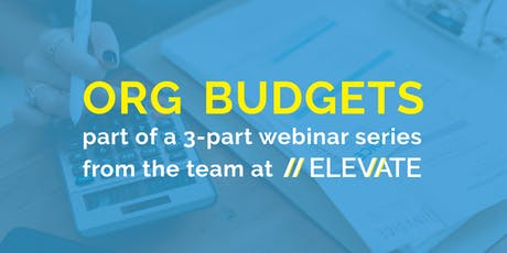 WEBINAR: Intro to Organizational Budgets for Nonprofits tickets