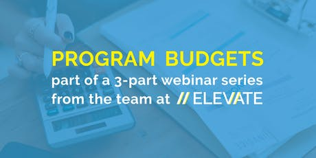 WEBINAR: Intro to Program Budgets for Nonprofits tickets