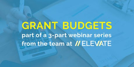 WEBINAR: Intro to Grant Budgets for Nonprofits tickets