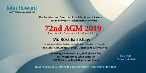 John Howard Society of London and District AGM 2019