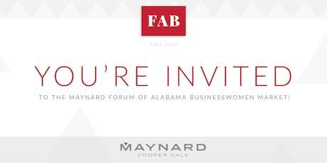 Forum of Alabama Businesswomen Market tickets