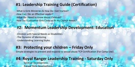 Girls Ministries & Royal Ranger Basic Training tickets