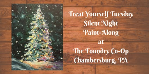 Treat Yourself Tuesday Paint-Along - Silent Night Tree