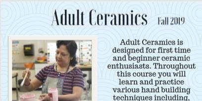 TOB DPCC Adult Ceramics Fall 2019