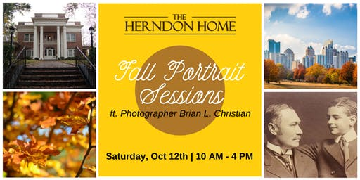 Fall Portrait Sessions at The Herndon Home Museum