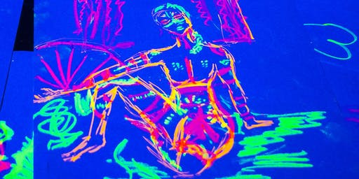 Queen of Hoxton Host Neon Naked Life Drawing Class!