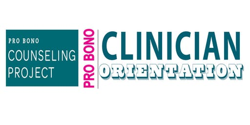 Pro Bono Clinician Orientation 9-19-19