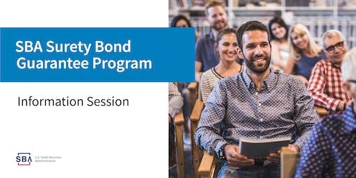 Contract Bonds & Surety Bond Guarantee Program- Webinar