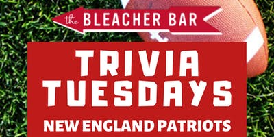 How 'Bout Them Pats Trivia at Bleacher Bar!