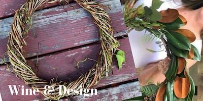 Wine & Design - Fall Foliage Wreath