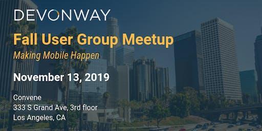 DevonWay Fall User Group Meetup