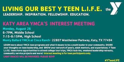 Katy Area YMCA's Y Teen L.I.F.E.
