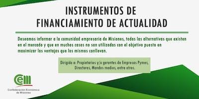 Instrumentos de Financiamiento de Actualidad