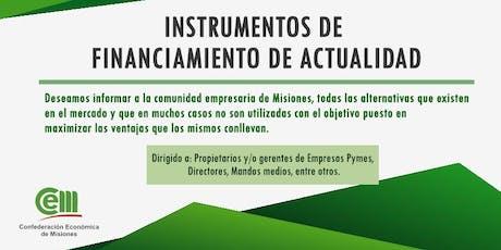 Instrumentos de Financiamiento de Actualidad entradas