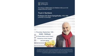 Trust in Numbers, a talk by Prof. Sir David Spiegelhalter FRS OBE tickets