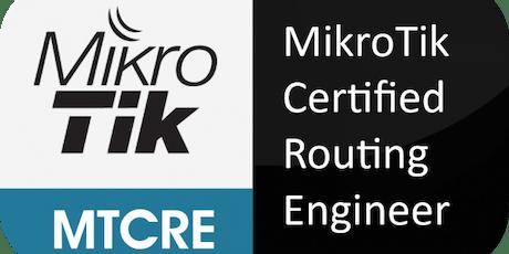 Curso y Certificación oficial MikroTik MTCRE (Agosto) tickets