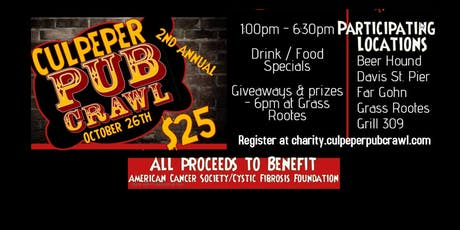 2nd Annual Charity Culpeper Pub Crawl tickets
