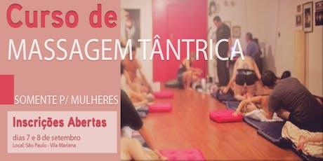 Curso Livre de Massagem Tântrica somente para Mulheres em São Paulo ingressos