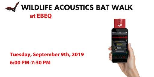 Wildlife Acoustics Bat Walk at EBEQ