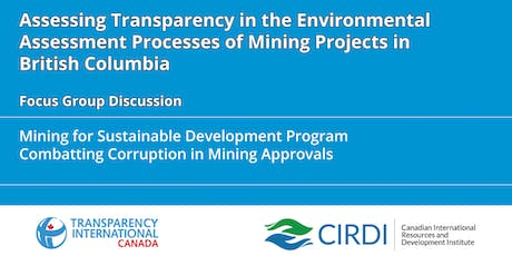 Assessing Transparency in the Environmental Assessment Processes of Mining Projects in British Columbia tickets