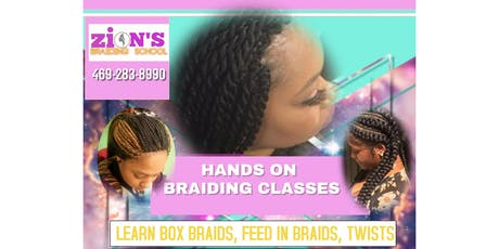 HANDS ON FEED INS & BOX BRAIDS CLASS tickets