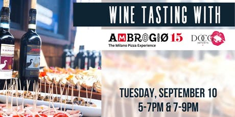 Wine and Bites with Ambrogio15 tickets