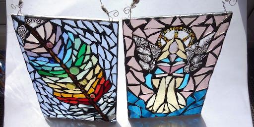 Illuminated Stained Glass Mosaic Sun Catcher (deposit)