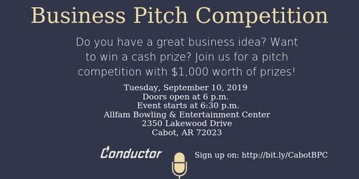 60-Second Business Pitch Competition in Cabot, AR!