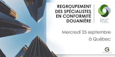 Regroupement des Spécialistes en Conformité du Québec billets