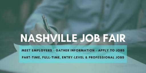 Nashville Job Fair - October 14, 2019 Job Fairs & Hiring Events in Nashville TN