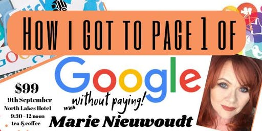 Google workshop with Marie Nieuwoudt
