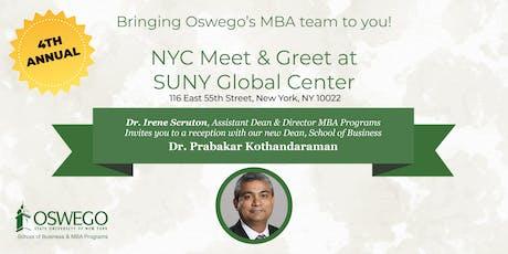 SUNY Oswego MBA@NYC Meet & Greet tickets
