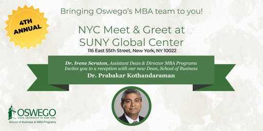 SUNY Oswego MBA@NYC Meet & Greet
