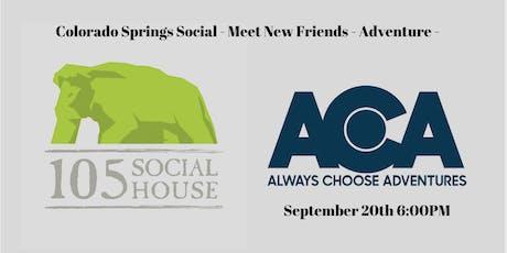 September Colorado Springs Social with Always Choose Adventures  tickets