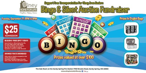 Olney Home For Life Fundraiser: Bingo, Silent Auction, Food Refreshments and More