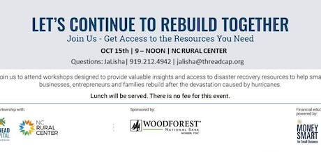 Let's Continue To Rebuild Together - Raleigh tickets