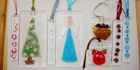 Festive Fused Glass Ornaments Class (deposit) tickets