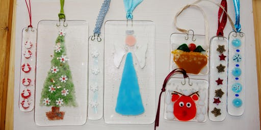 Festive Fused Glass Ornaments Class (deposit)