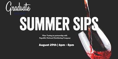 Summer Sips Wine Tasting