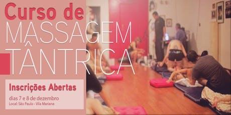 Curso Livre de Massagem Tântrica em São Paulo ingressos