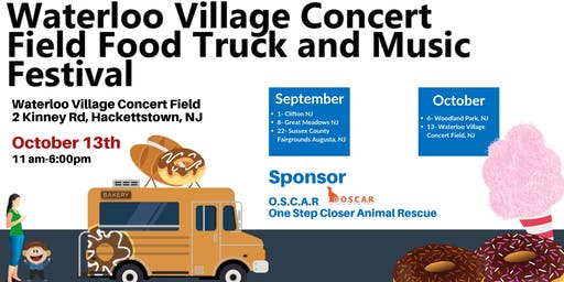 October 13th- Waterloo Village Food Truck and Music Festival